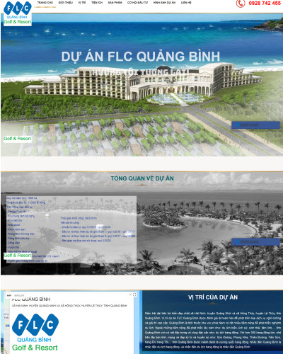 Dự án thiết kế landing page cho FLC Quảng Bình